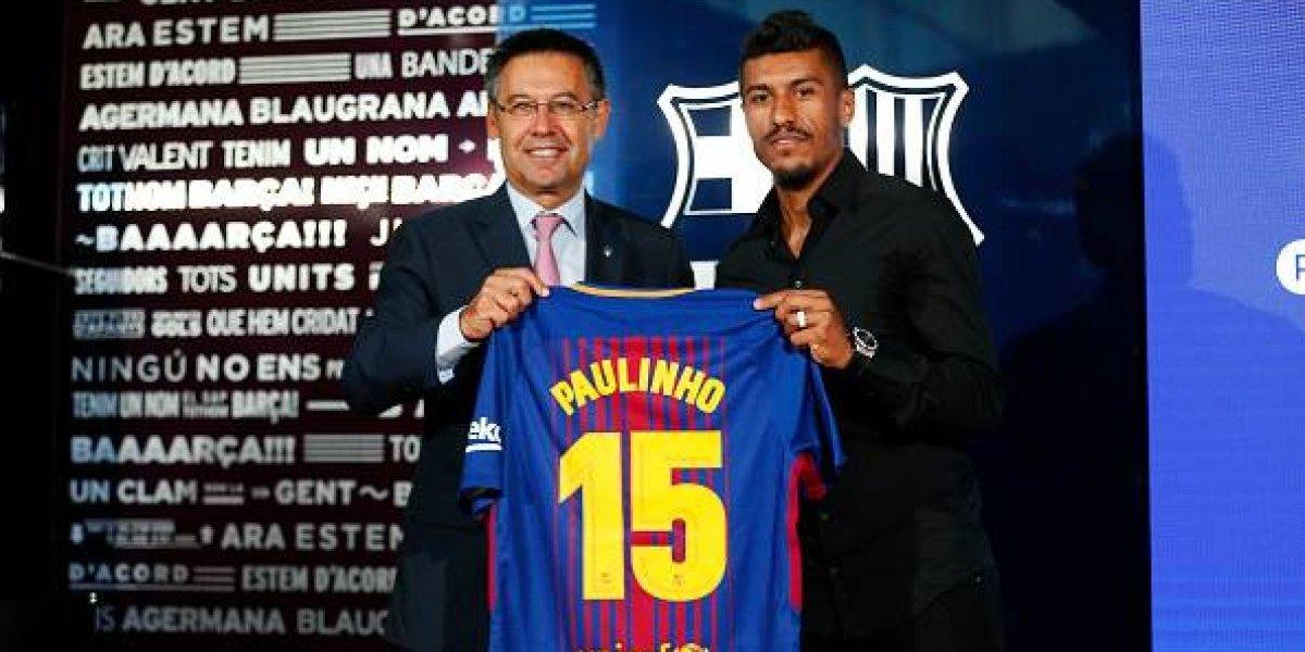 Paulinho es presentado como nuevo jugador del Barcelona