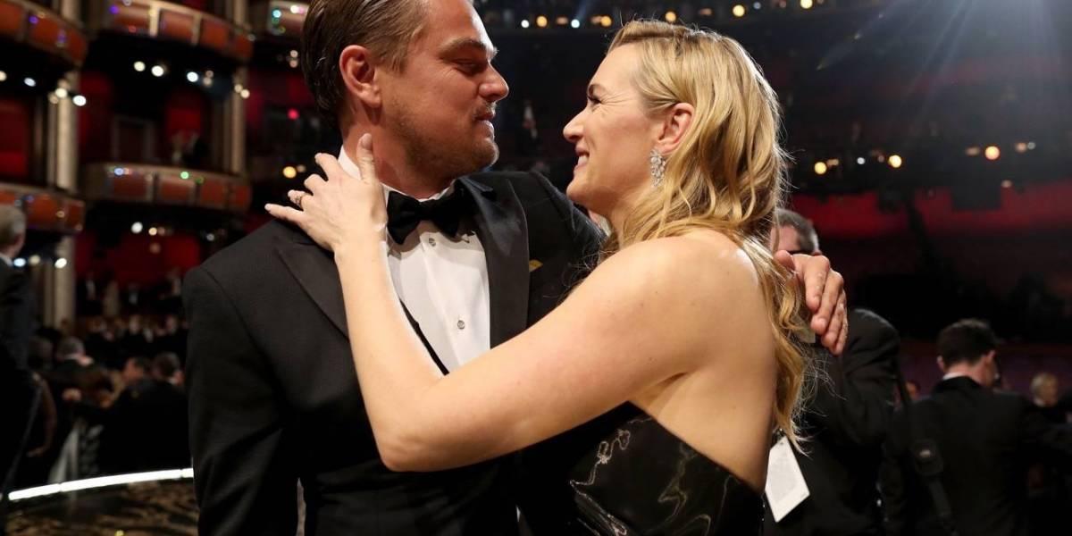 Captan a Kate Winslet y Leonardo DiCaprio muy cariñosos
