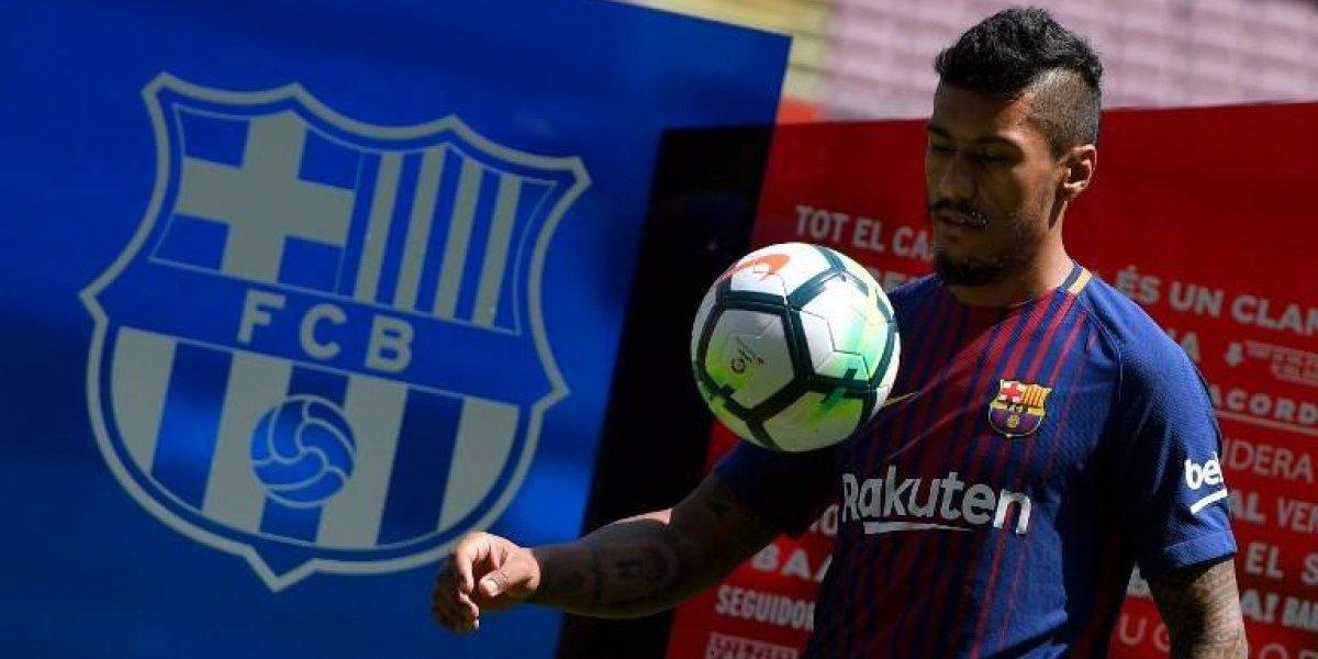 Paulinho es presentado con el FC Barcelona