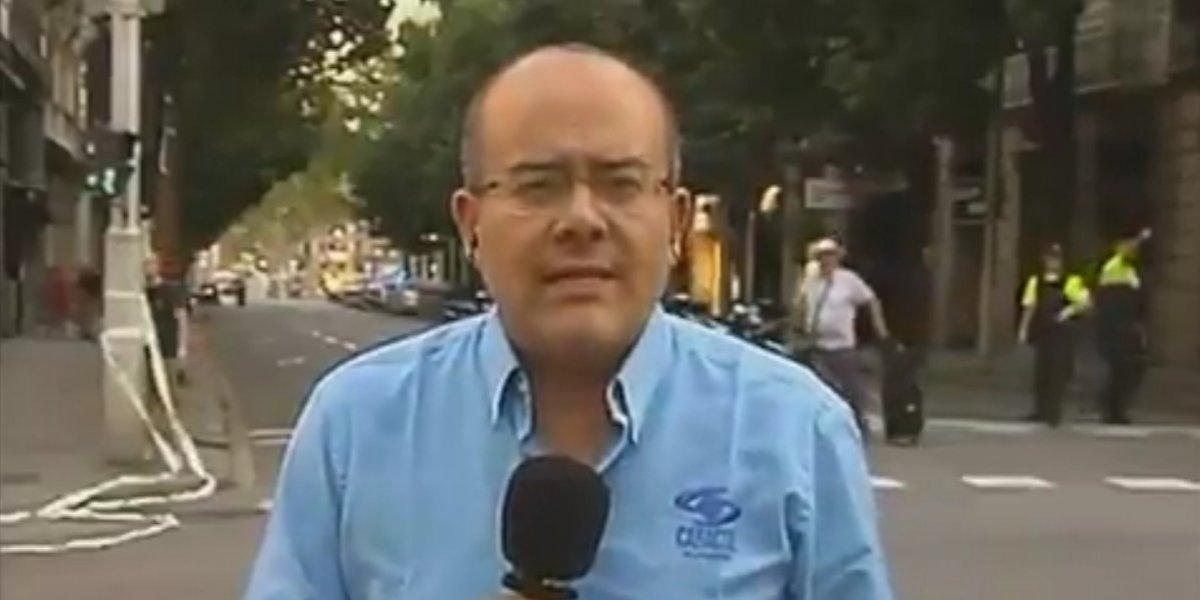 Pánico en vivo en Barcelona, mientras Ricardo Orrego entrevistaba a una testigo