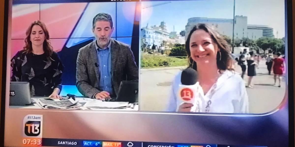 [FOTOS] Mónica Pérez reaparece tras polémica como corresponsal en Canal 13