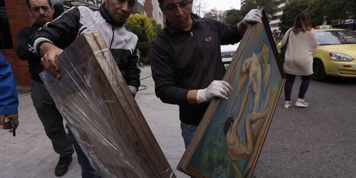 22 cuadros y 3 esculturas se incautaron del departamento de Ramiro G.