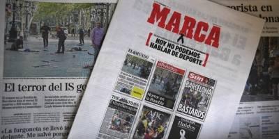 Atentado en Barcelona: diarios deportivos en España de luto