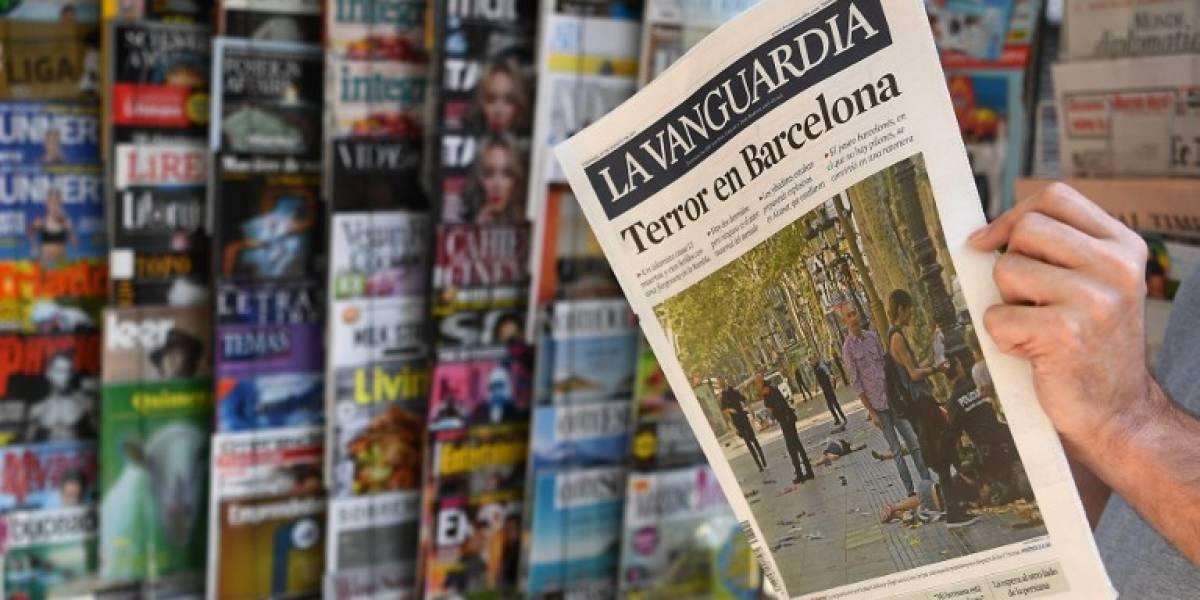Prensa europea se une al repudio de los atentados en Barcelona