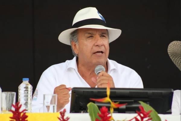 Presidente Lenin Moreno participa en la 'Gran Minga Agropecuaria'