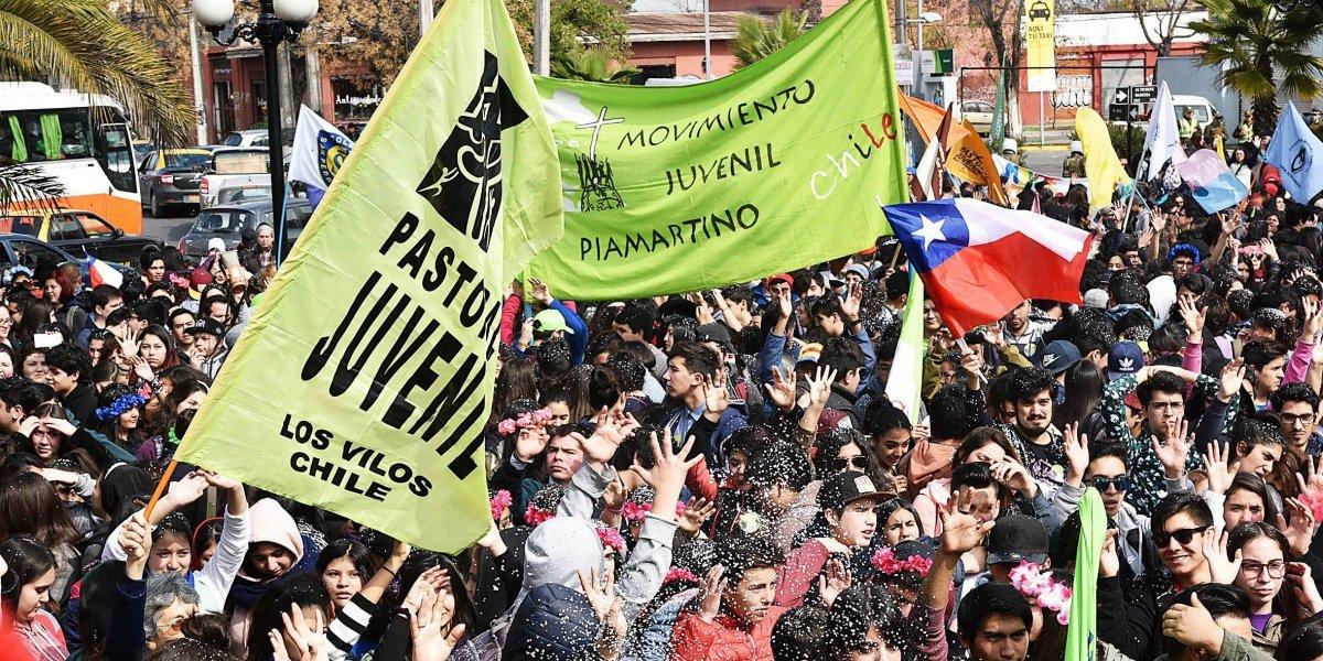 30 mil jóvenes peregrinaron al santuario del Padre Hurtado en marco del mes de la solidaridad