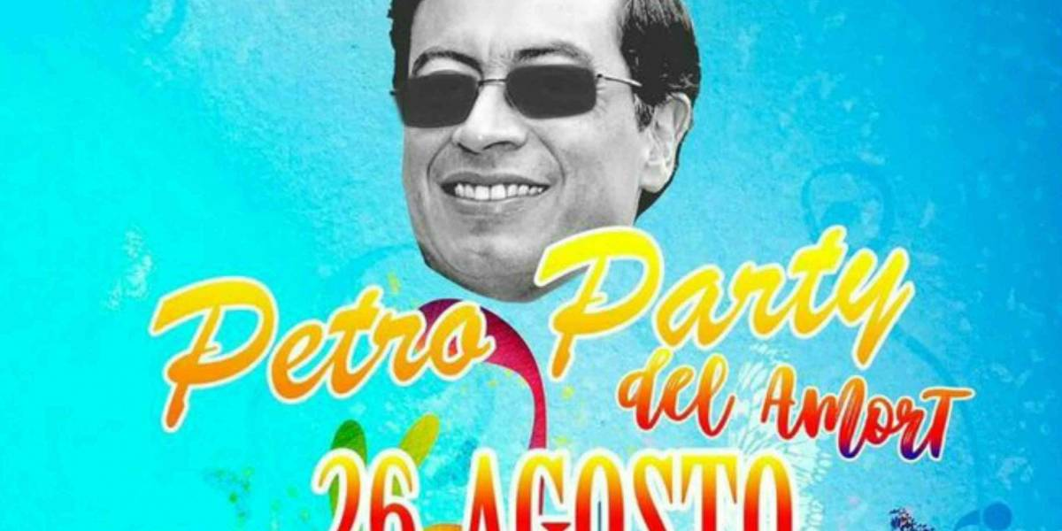"""La imagen de Hollman Morris invitando a la """"#PetroParty del amort"""" que ha generado burlas"""