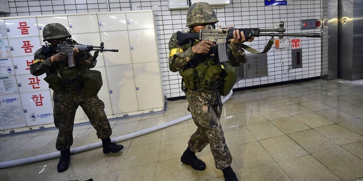"""""""Serán como echar gasolina al fuego"""": Pyongyang por maniobras militares de Washington y Seúl del próximo lunes"""