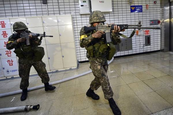 militares corea sur