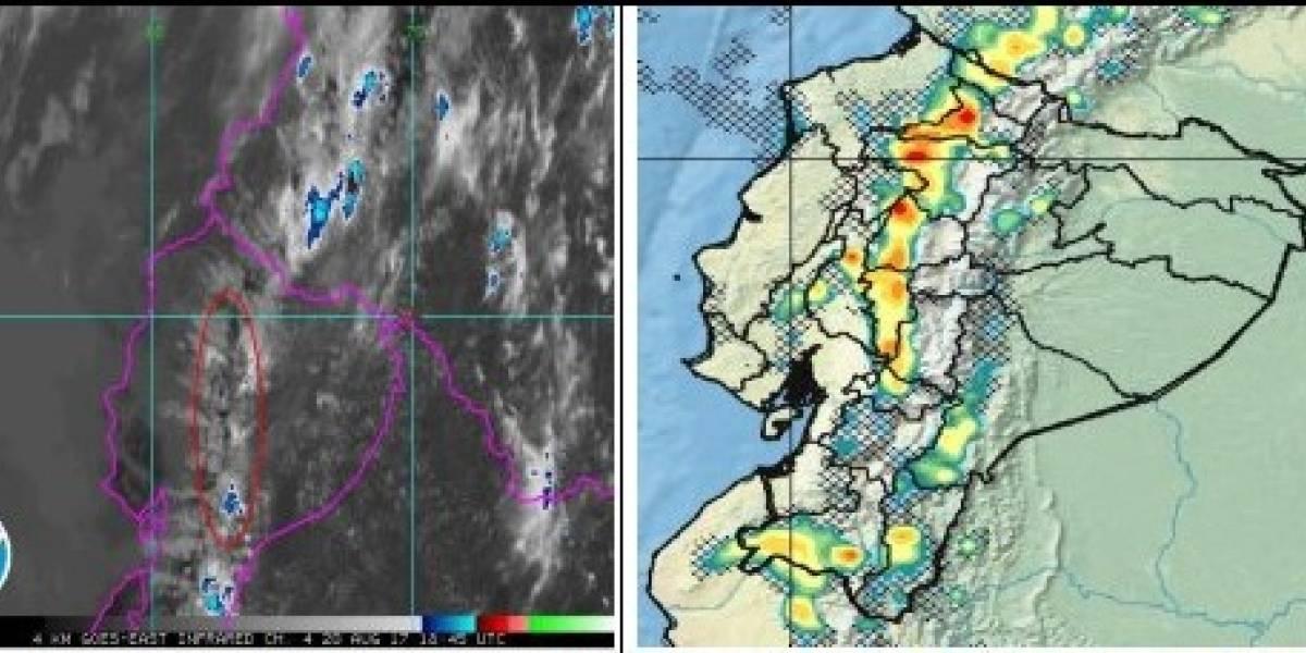 Lluvias y descargas eléctricas en Quito