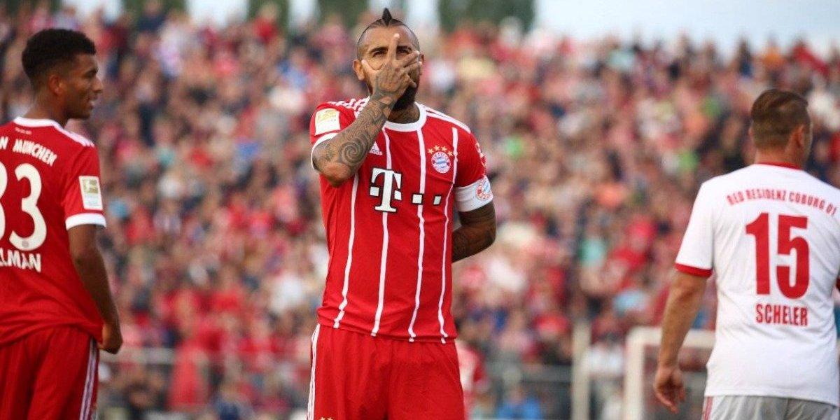 El capitán Arturo Vidal se lució en amistoso del Bayern ante fanáticos del club