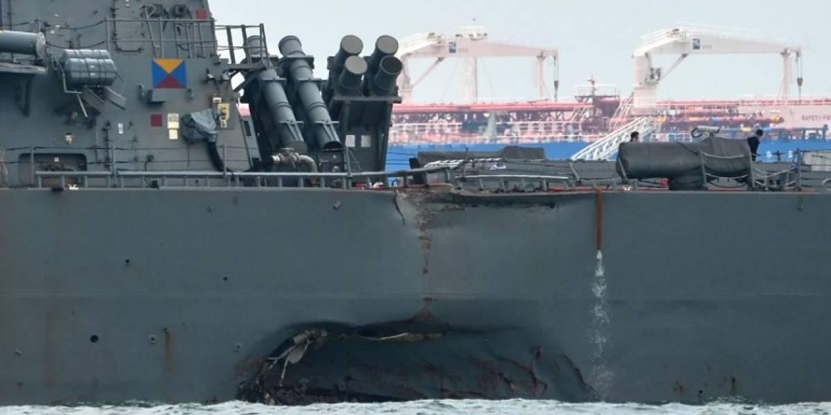 USS John McCain choca con el buque mercante — ÚLTIMA HORA