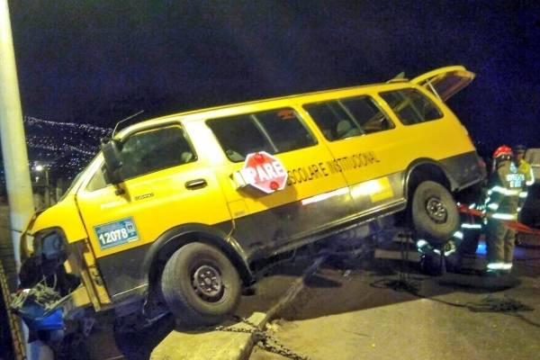 Accidente de tránsito en sector Parque de los Recuerdos, Quito
