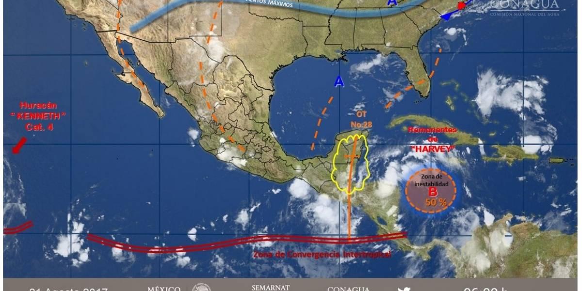 Huracán Kenneth alcanza la categoría 4 lejos de las costas mexicanas