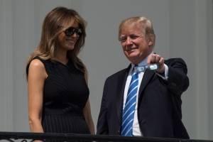 Melania y Donald Trump en la Casa Blanca