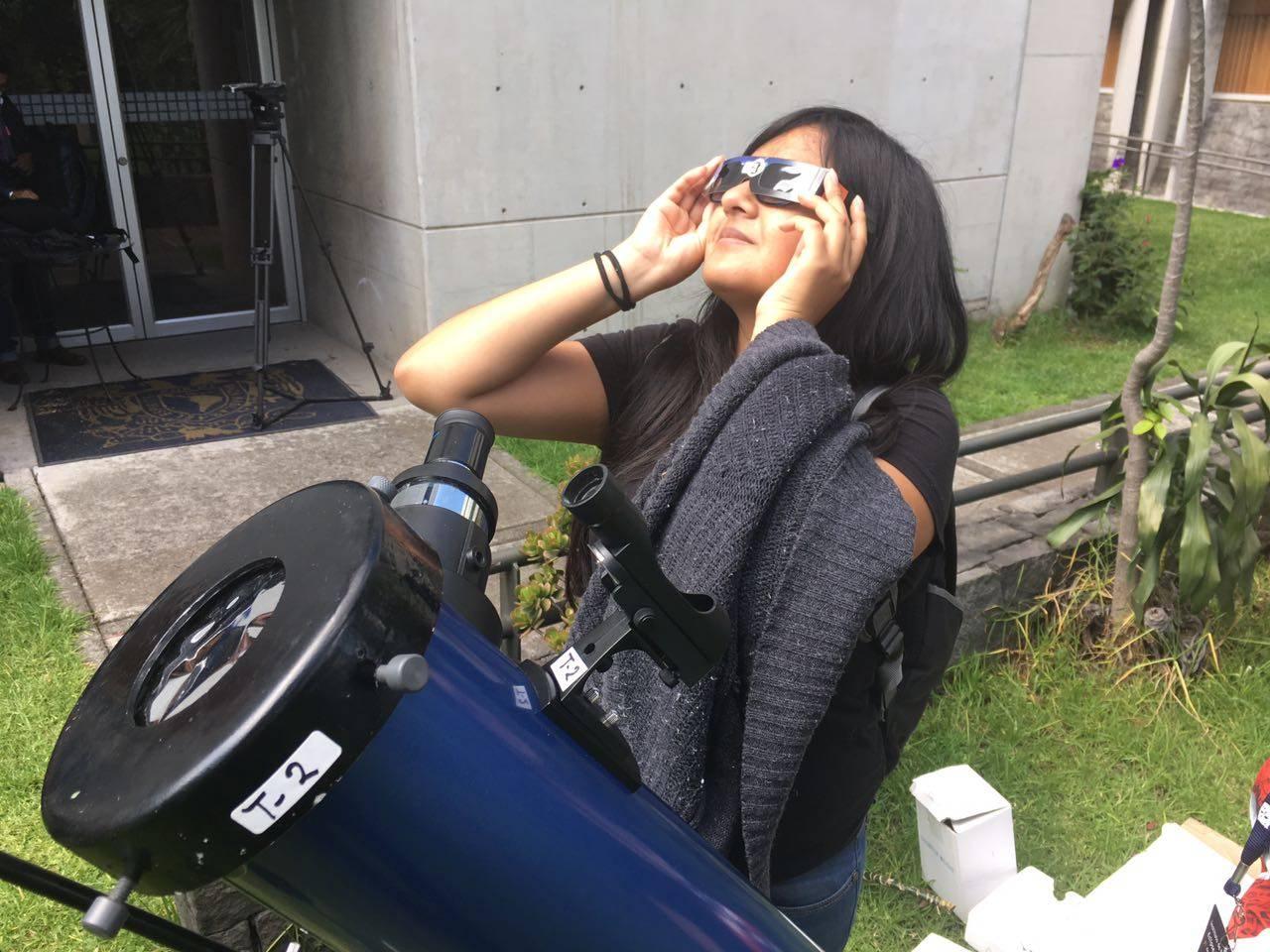 Con lentes y telescopios Foto: Nicolás Corte