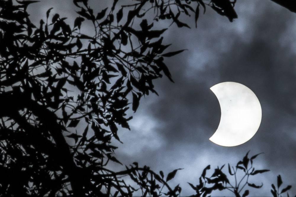 Así se vio el eclipse en la CDMX Foto: Cuartoscuro