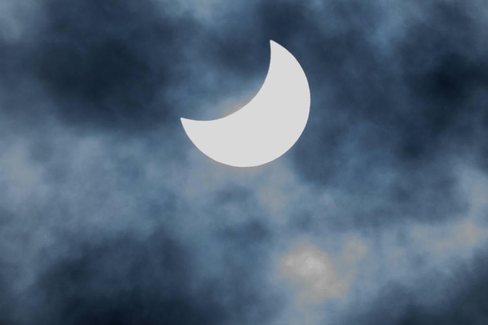 Fue lo que pudieron apreciar los regios del eclipse Foto: Cuartoscuro