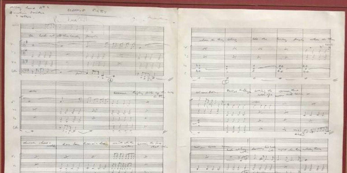 """La partitura de """"Eleanor Rigby"""" de los Beatles será subastada en Reino Unido"""