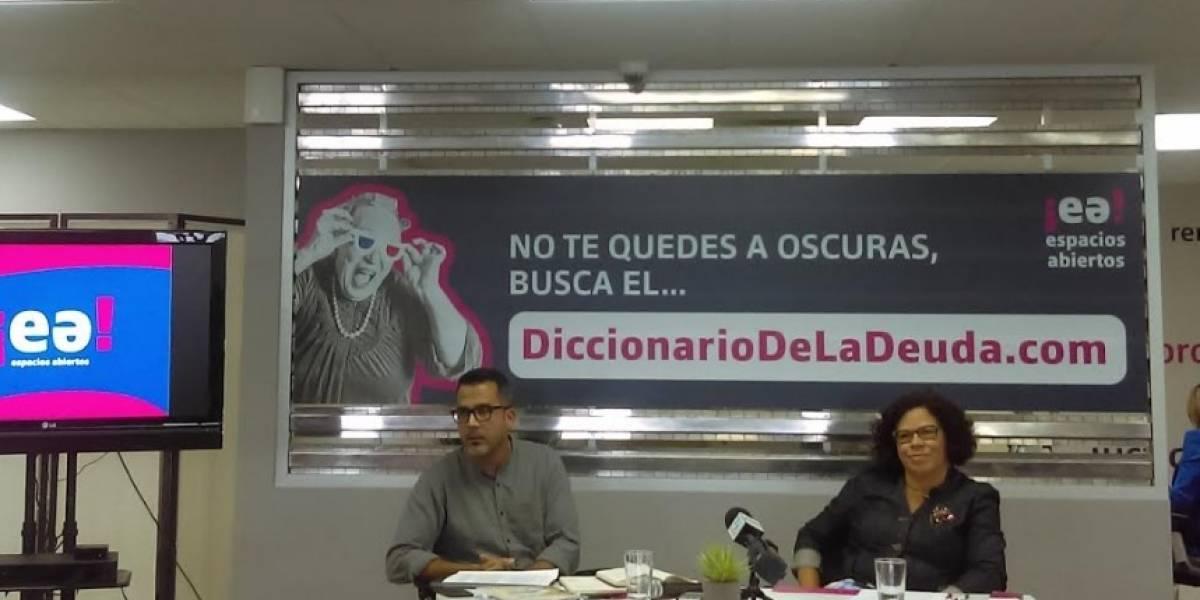 Espacios Abiertos presenta diccionario para entender la deuda
