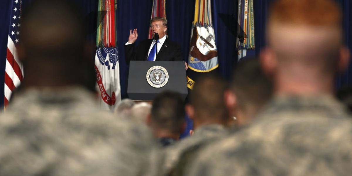 Donald Trump anuncia aumento de tropas en Afganistán