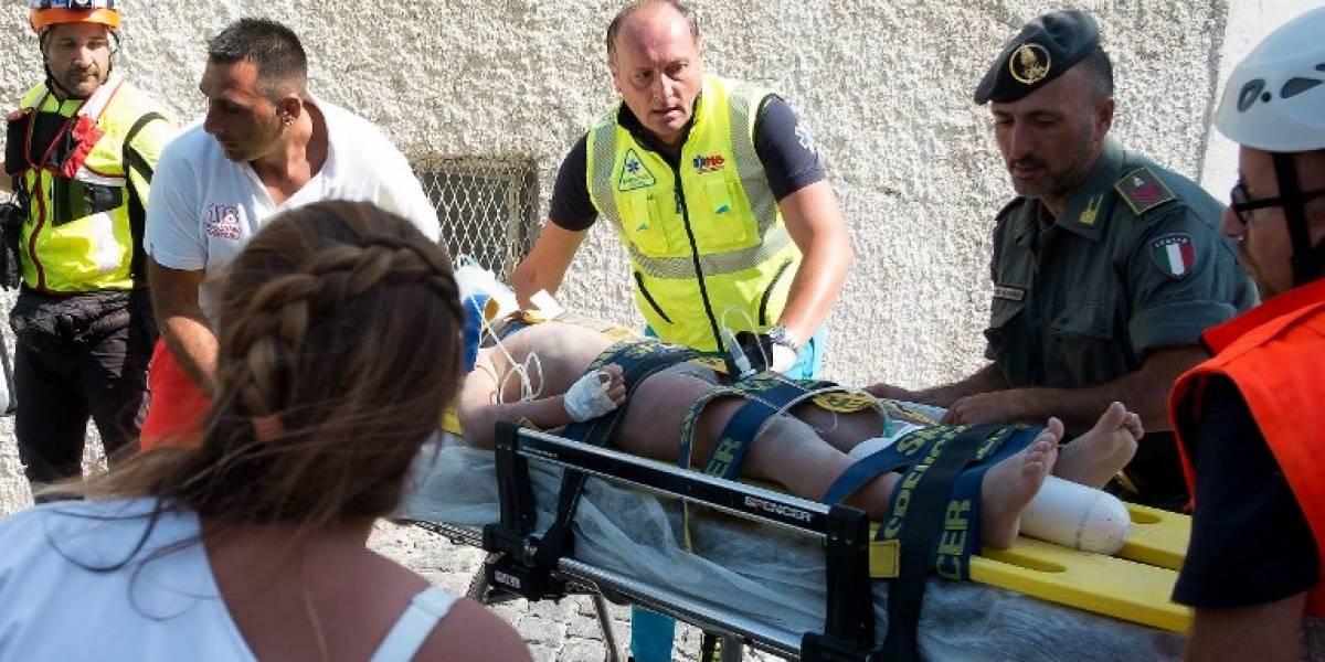Terremoto en Italia: la historia de la familia en la que tres niños fueron sepultados por los escombros y rescatados con vida