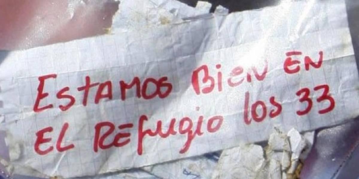 Otra vez sacó el papelito: Piñera recordó el momento en que confirmaron que los 33 de la mina San José estaban vivos