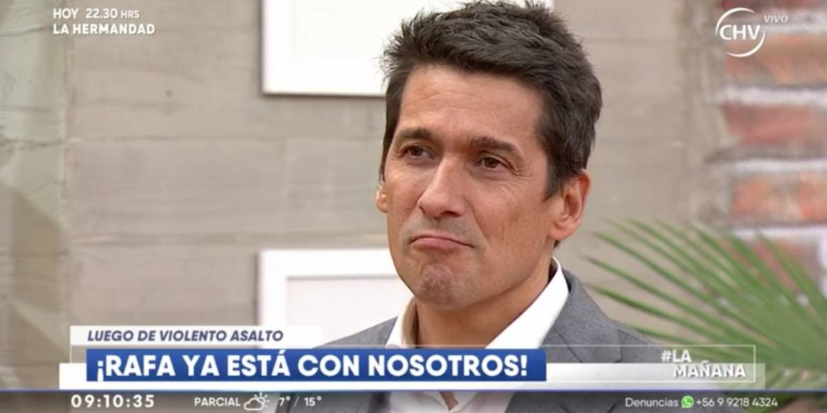 "Rafael Araneda volvió al matinal de CHV tras violento asalto: ""La vida sigue"""
