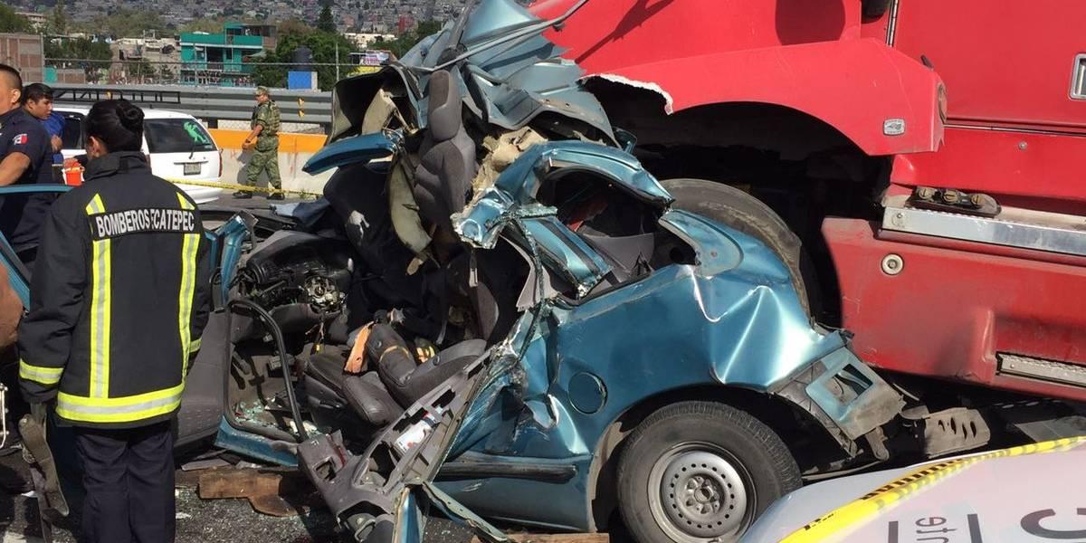 Carambola en la México-Pachuca deja un muerto y seis lesionados