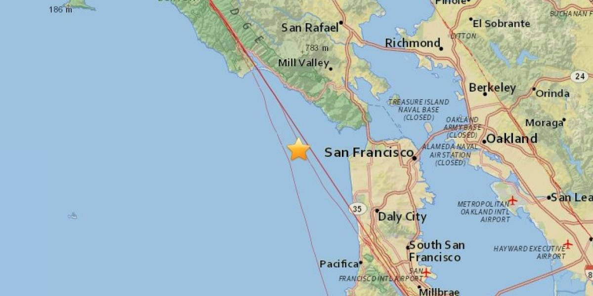 Reportan sismo en San Francisco, California, magnitud 3.2