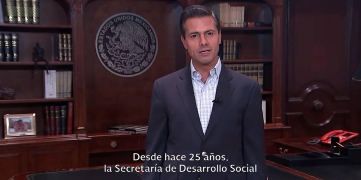 Peña Nieto felicita a Sedesol por sus 25 años