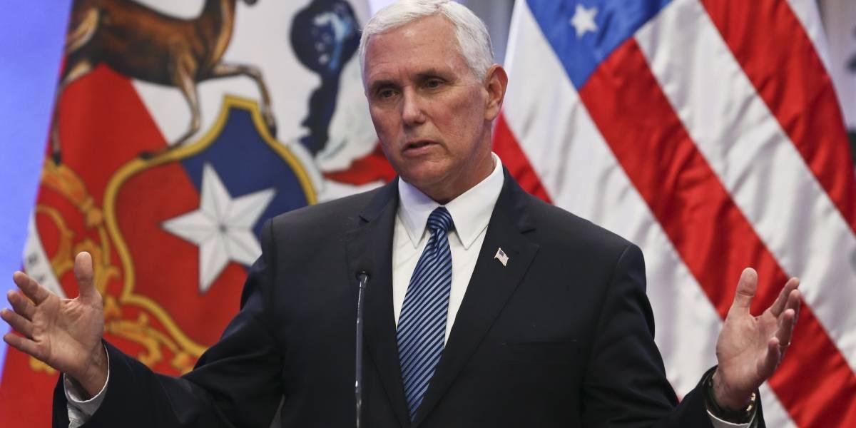 """Exiliados venezolanos piden a Mike Pence un """"urgente alivio migratorio"""""""