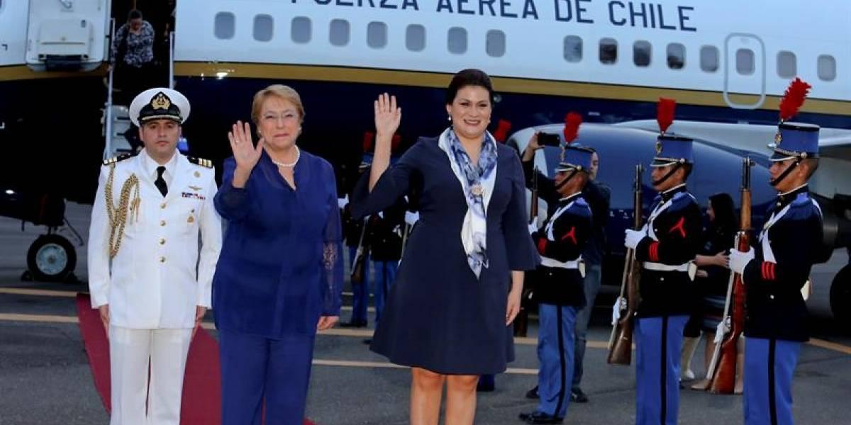 Bachelet aboga por ampliar los lazos comerciales entre Chile y Honduras