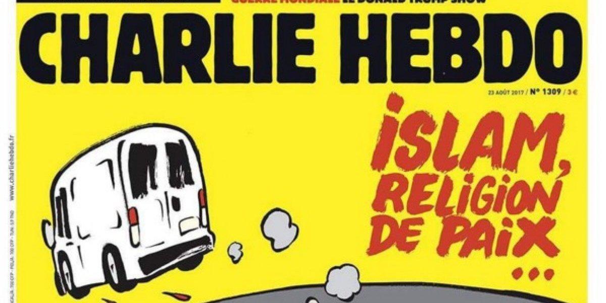 Charlie Hebdo es criticada por su portada sobre los ataques en Barcelona