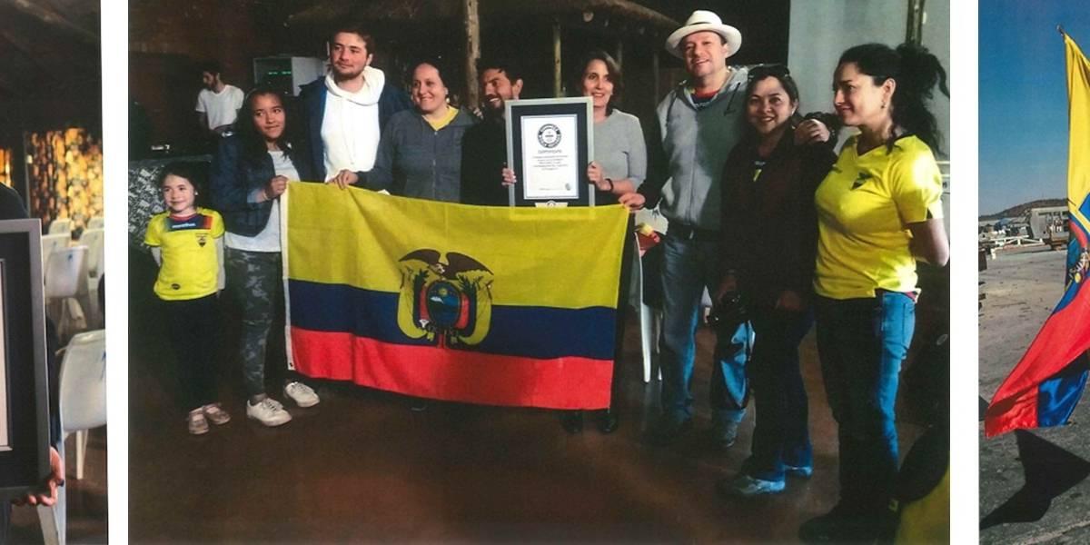 Deportista ecuatoriano Millán Ludeña logra un Record Guinness
