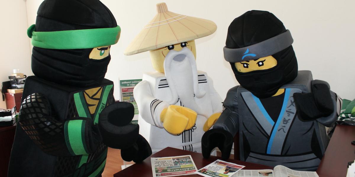 Lego Ninjago, los editores invitados en Publimetro