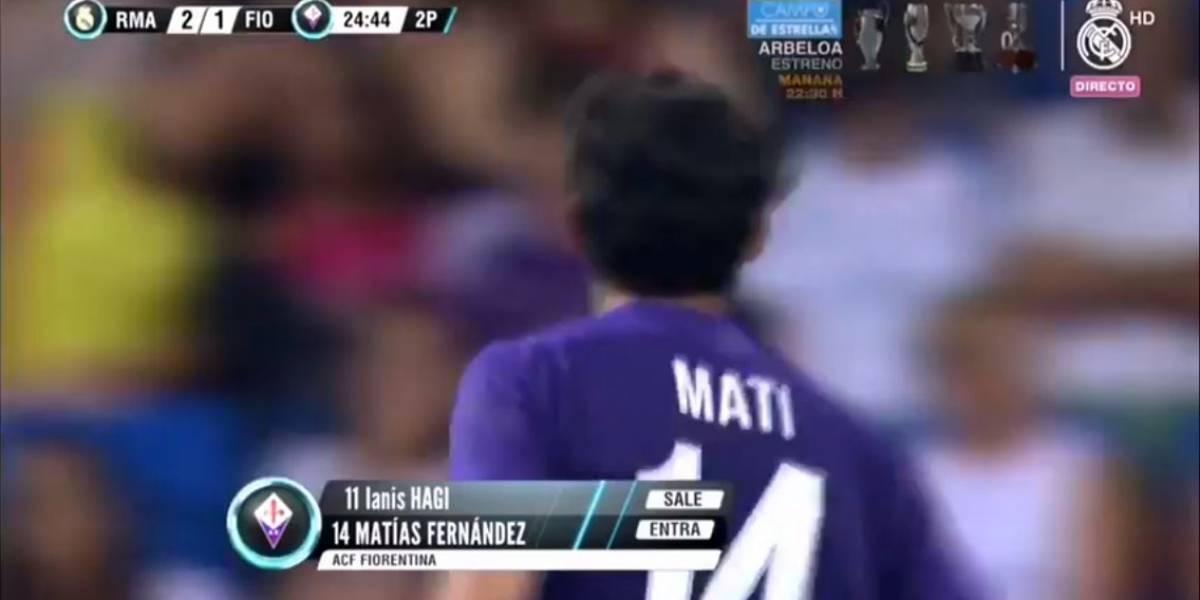 Matías Fernández enfrentó al Real Madrid y vio el golazo de Cristiano en el trofeo Bernabéu