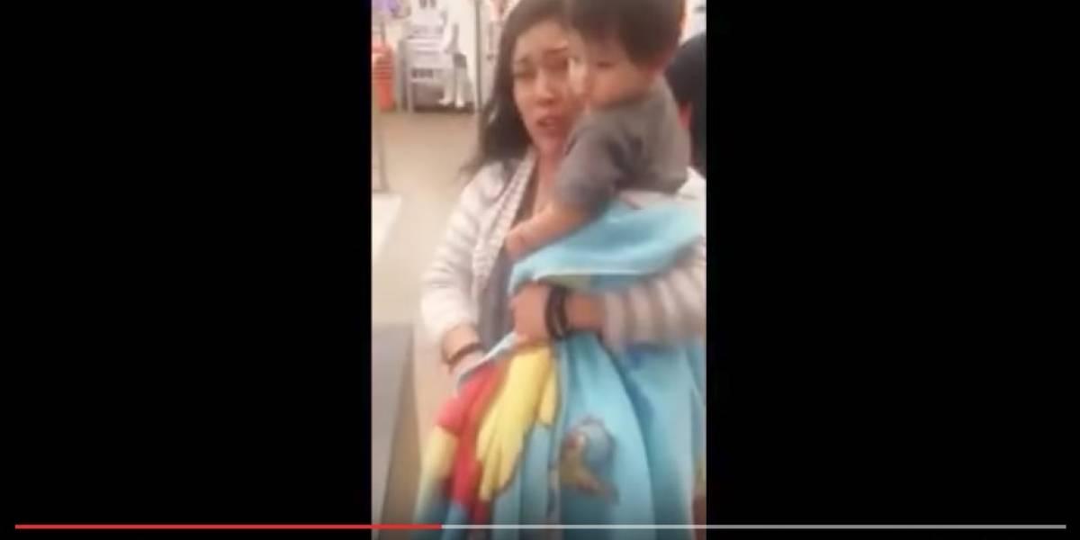 Mujer usa su hijo de un año para robar en supermercado