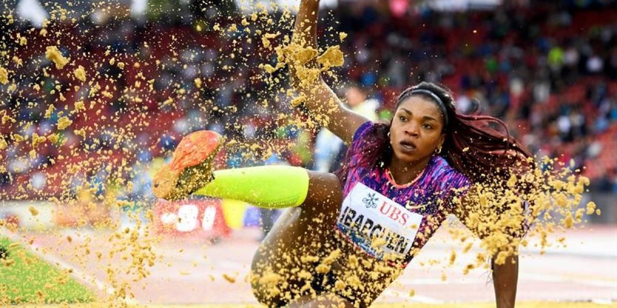 Caterine Ibargüen, tercera en las finales de la Liga Diamante de salto triple