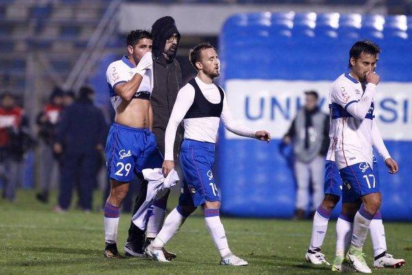 El Chapa Fuenzalida jugó los 90 minutos ante Huachipato y tuvo un par de ocasiones de gol, pero en ellas respondió bien el arquero acerero Carlos Lampe / Agencia UNO