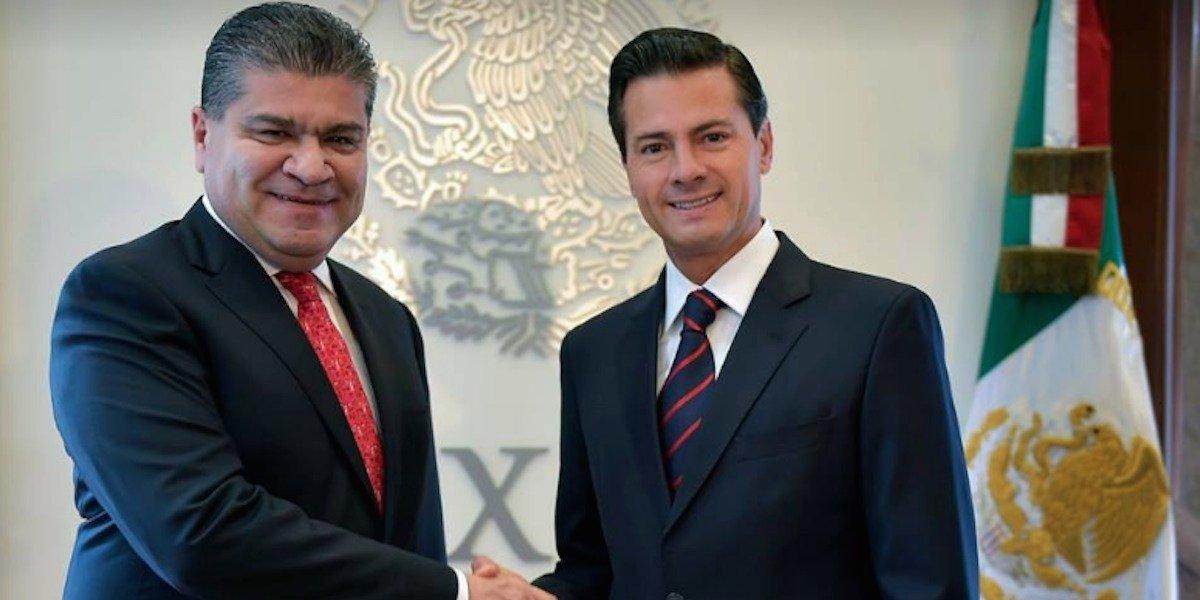 Peña Nieto felicita a Miguel Ángel Riquelme por su triunfo en Coahuila