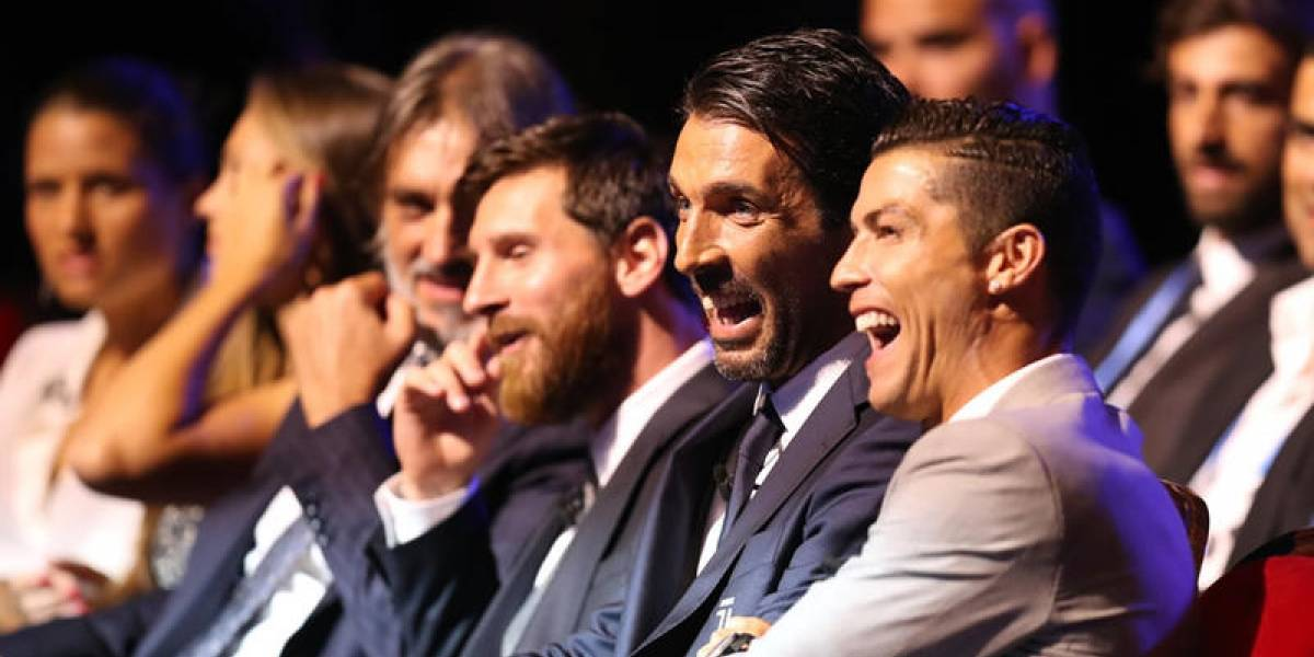 Cristiano bromeó con Buffon y lo llamó 'viejito'
