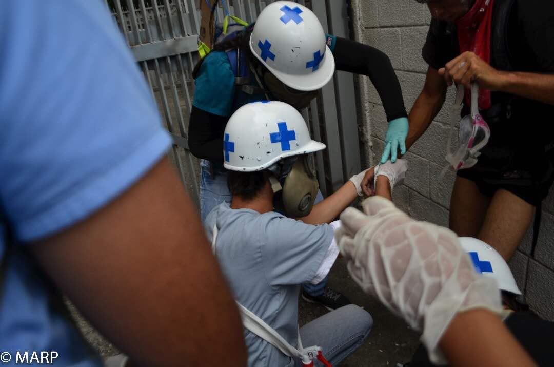 Voluntarios de los Cascos Azules.