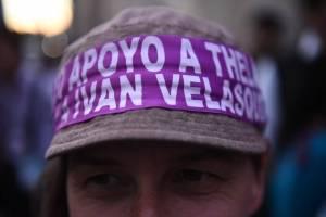 Manifestaciones apoyo a Iván Velásquez y Thelma Aldana