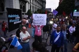 Manifestaciones en apoyo a Iván Velásquez