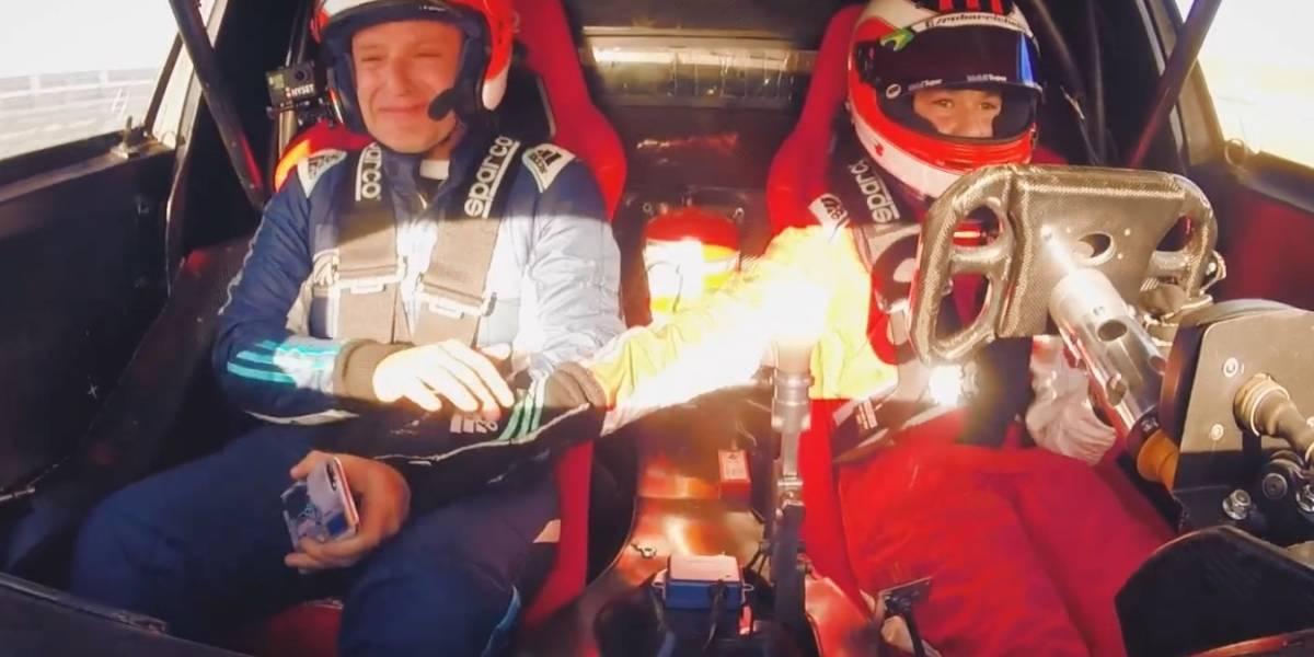 Mira la emoción de Rubens Barrichello por ser copiloto de su hijo