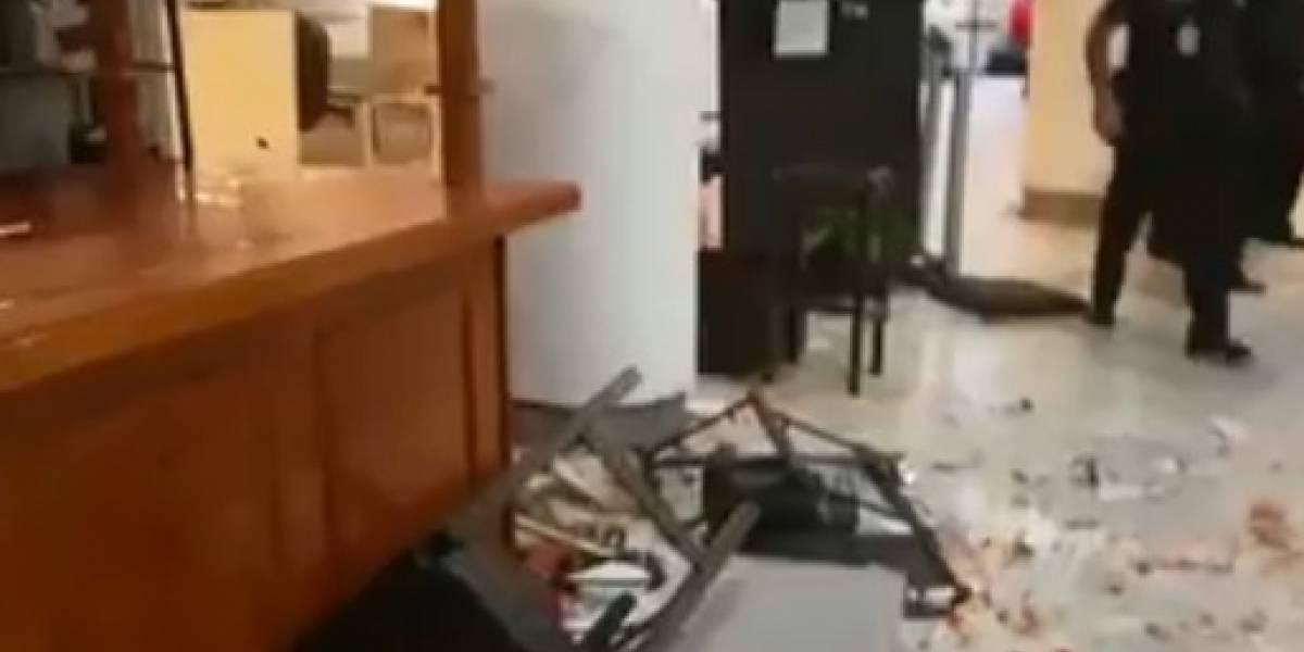 Se enfrentan ex empleados de Mexicana con integrantes del Barzón en el AICM