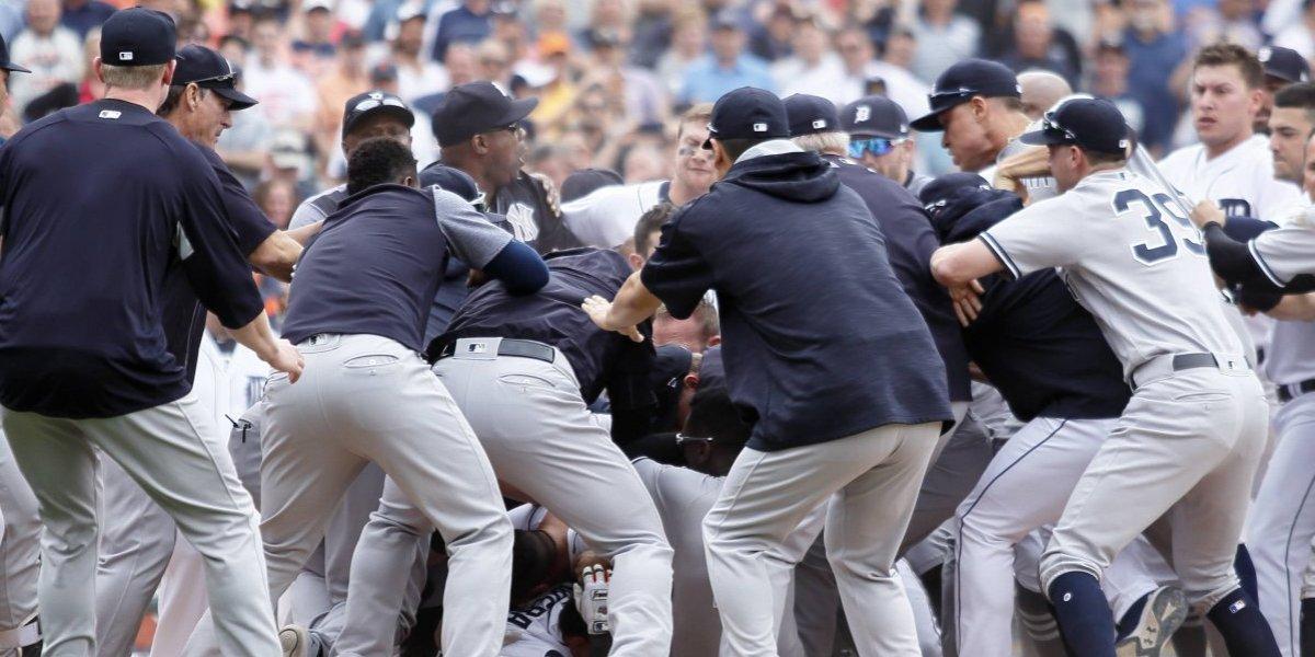 Yankees y Tigres protagonizaron varias trifulcas