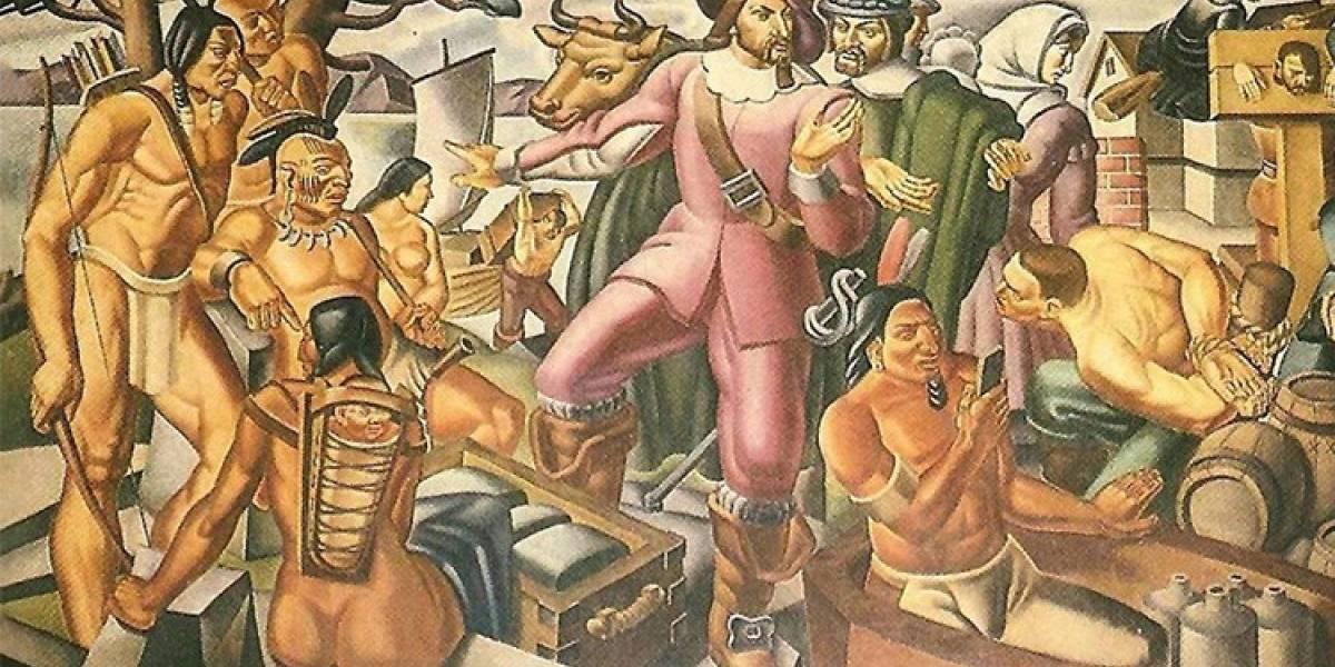 Encuentran un iPhone en una pintura de 1930