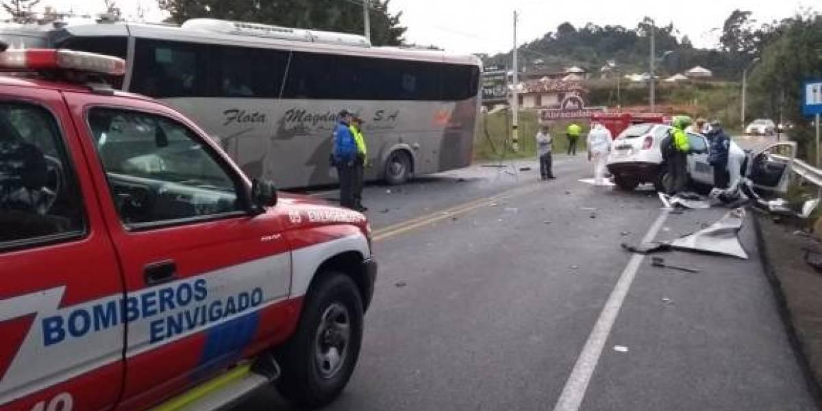 Accidente en Las Palmas cierra la llegada al Aeropuerto de Rionegro